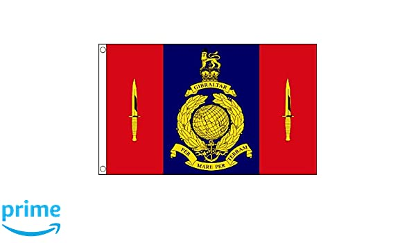 40 COMMANDO ROYAL MARINE BADGE ON METAL SIGN 5 x 7 INCHES OUTSIDE OR INSIDE USE