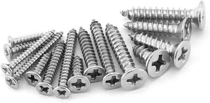 Sliver Self Tapping Screws Assortment Set Garueo Drive Wood Screw Assortment 420pcs M2//M2.2//M2.6//M3//M4 304 Stainless Steel Sheet Metal Screws Kit