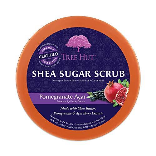 Tree Hut Shea Sugar Scrub Pomegranate Acai, 18oz, Ultra Hydrating and Exfoliating Scrub for Nourishing Essential Body Care