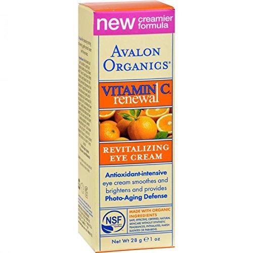 New - Avalon Organics Revitalizing Eye Cream Vitamin C - 1 fl oz