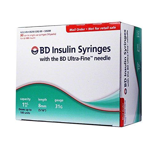 BD Ultra-Fine Insulin Syringes 31G 1cc 5/16