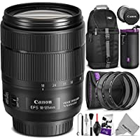 Canon EF-S 18-135mm f/3.5-5.6 IS USM Lens for Canon DSLR Cameras w/ Essential Photo and Travel Bundle