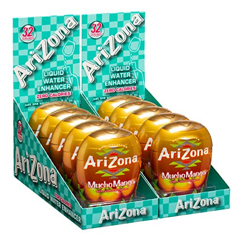 AriZona Mucho Mango Liquid Water Enhancer LWE (Pack of 10), Low Calorie Single Serving, Liquid Drink Mix, Just Add Water for Deliciously Refreshing Fruity Zero Calorie Beverage
