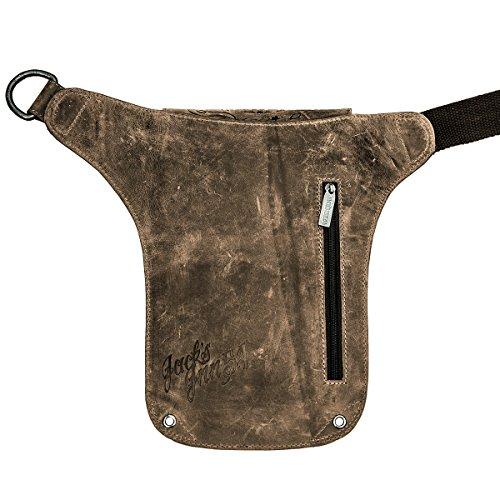 Piel 54 al para hombro Vintage Brown Jack's marrón de Bolso hombre Inn Otra tg6q5wB0n
