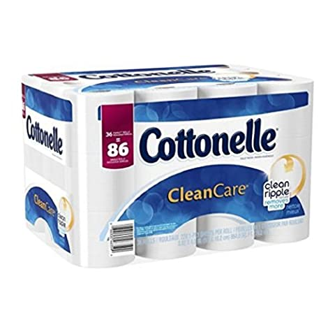 Cottonelle Septic-safe Clean Care Sewer-safe Strong Effective Toilet Paper Bath Tissue 36 Family Rolls Family Roll 20 percent more sheets per roll