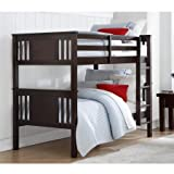 Cheap Better Homes and Gardens Flynn Twin Bunk Bed (Espresso)