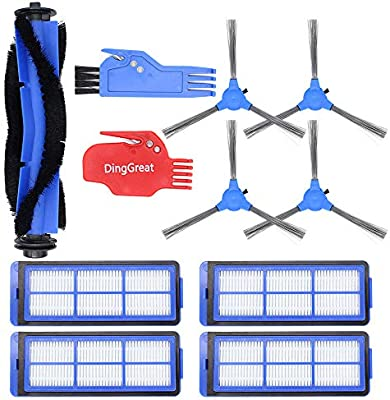 DingGreat Kit de Accesorios para Eufy RoboVac 11S MAX, RoboVac 15C MAX, RoboVac 30C MAX Robot Aspirador, Paquete de 1 cepillos Principales 4 filtros 4 cepillos Laterales 1 Cepillo de Limpieza: Amazon.es: Hogar