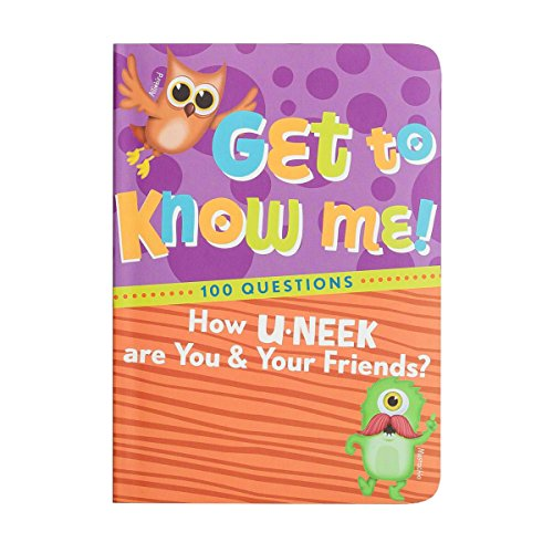 U-Neeks Notebook, Answer 100 Questions, Get to Know Me and My Friends Full-Colored Guided Journal for Kids by U-Neeks Guided Journal