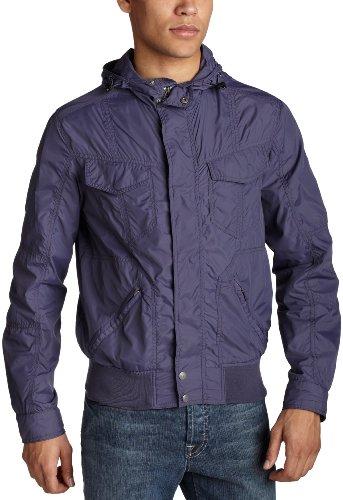 Levi's Men's Nylon Hidden Hood Bomber Jacket,Indigo,Medium ()