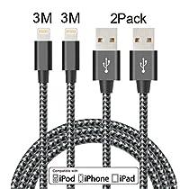 Elebar ER2PCS-10FT-BK USB-Kabel, 10FT Black Gray