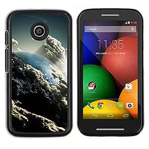 "Be-Star Único Patrón Plástico Duro Fundas Cover Cubre Hard Case Cover Para Motorola Moto E / XT1021 / XT1022 ( Nubes Cielo Arte Tierra Sun Ambiente"" )"