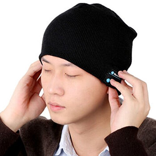 Bluetooth Hat, Tech2016 Wireless Bluetooth Headset Hat Music Hat with Built-in Stereo Speakers Fit for Outdoor Sports, Skiing ,Running, Skating, Walking, Christmas Gifts (black)