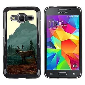 EJOY---Cubierta de la caja de protección la piel dura para el / Samsung Galaxy Core Prime / --Alce Elk Lake