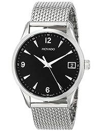 Movado Men's 606802 Circa Analog Display Swiss Quartz Silver Watch