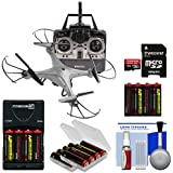 Vivitar DRC-120 Camera Aerial Quadcopter Drone (Silver) 16GB Card + Battery + Charger + Kit