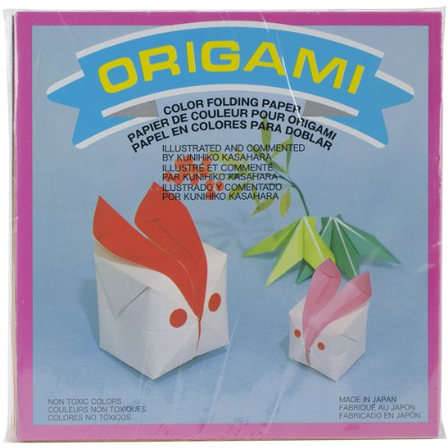 Aitoh Origami Paper, 5.875 by 5.875-Inch, Solid Colors, ()