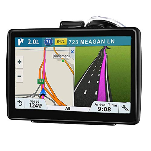 GPS Navigation for Car, 7 inch 256MB-8GB HD Touch Screen Car GPS, Live Voice Navigation, Fast Positioning,Support Speed and Red Light Warning, Free Lifetime Map Updates