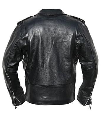 Chaqueta de Motociclista Hombre el Cuero Biker Marlon Brando: Amazon.es: Ropa y accesorios