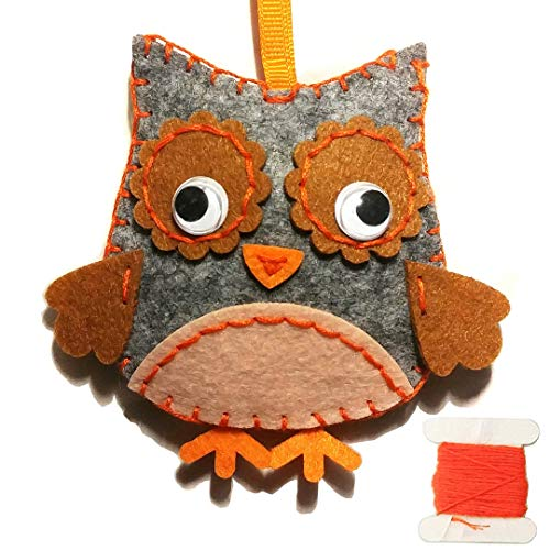 - MP Animal Crafting Sewing Kit - DIY Felt Stuffed Animal Owl - for Boys and Girls - Travel Activity and Art Projects - Click to See All Animals / Styles!
