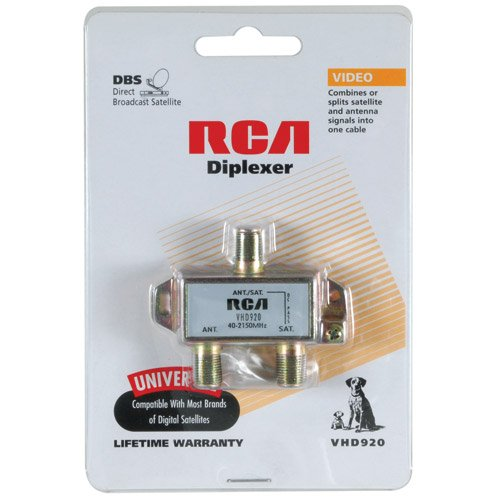 Amazon.com: Parts Express RCA Antenna Satellite Diplexer Splitter: Electronics