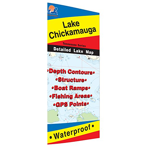 Chickamauga fishing map lake fishing kayaks for Lake chickamauga fishing map