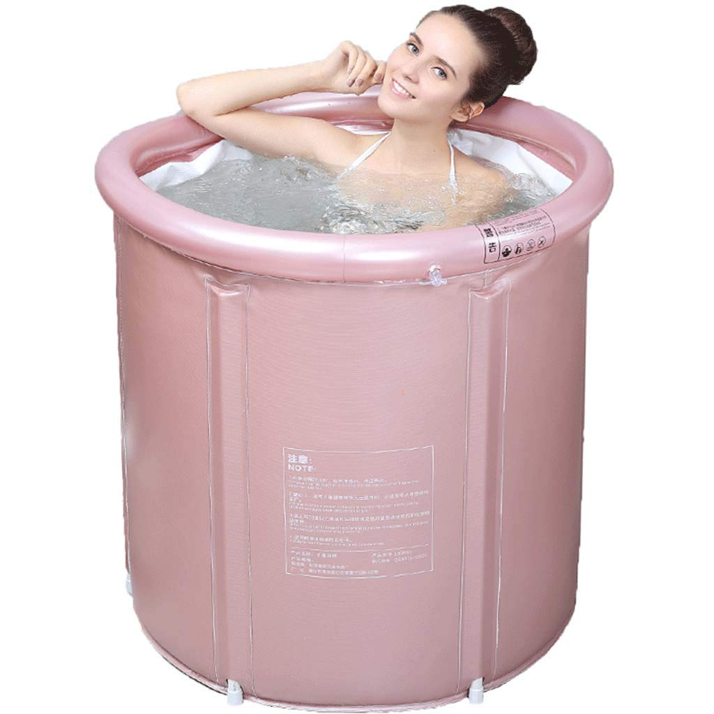 Bathtub,aufblasbare Badewanne PVC Faltbare Plastikbadewanne Erwachsene Portable spa bath Eimer sky bluee