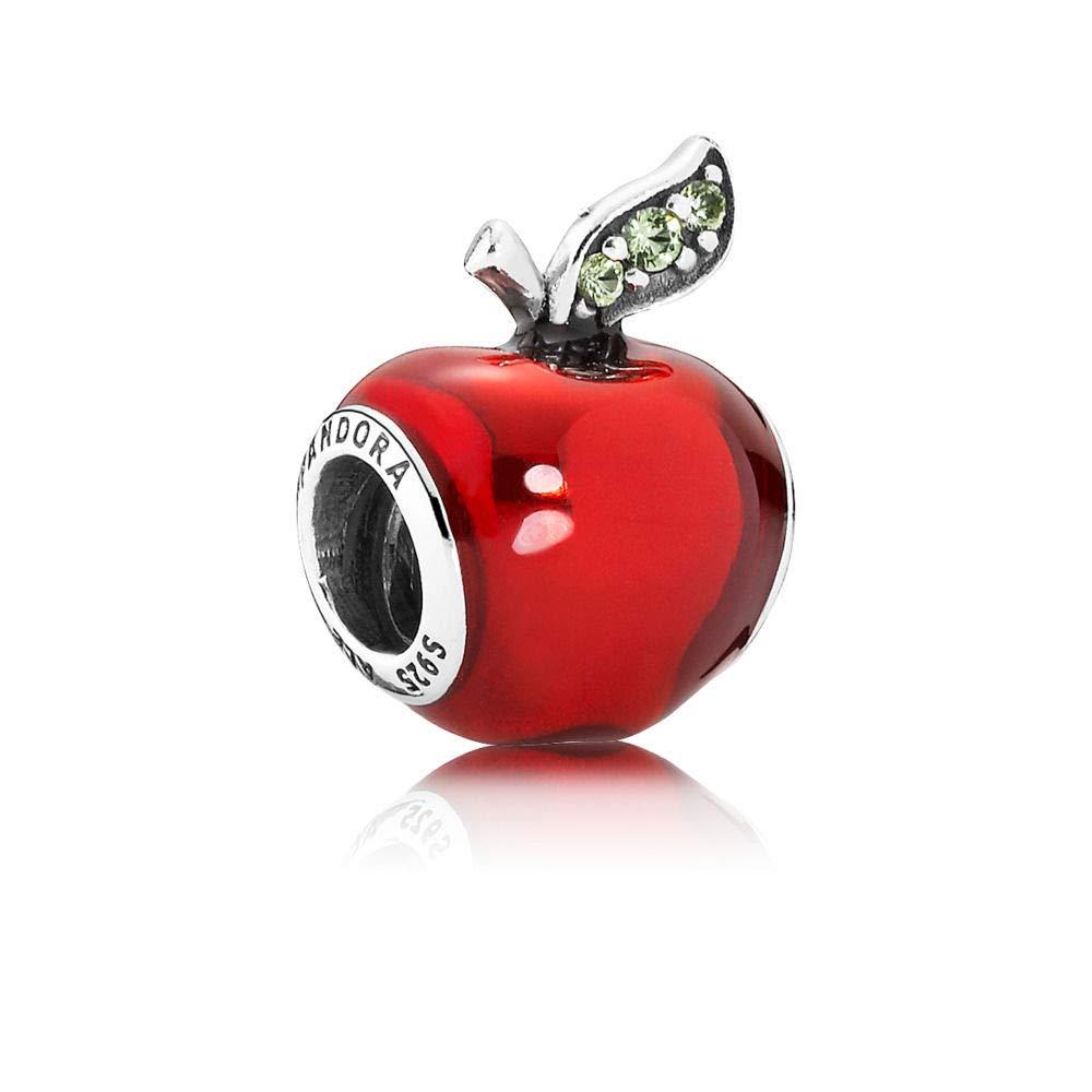 a55b69914 Amazon.com: Pandora Sterling Silver Disney's Snow White Red Apple Charm  791572EN73: Jewelry