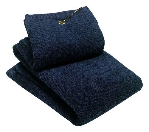 Port Authority Grommeted Tri-Fold Golf Towel, Navy, One Size