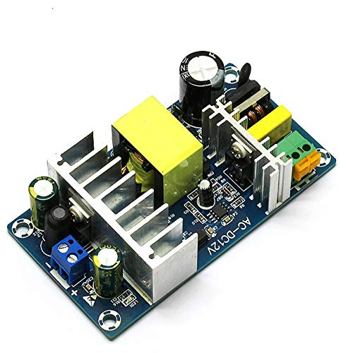 Utini AC-DC Power Supply Module with Indicator Light 100W Switch Power Supply Board Input AC 85~265v 50//60HZ,Output DC 12V,6-8A