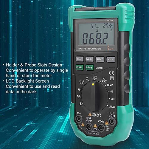 MASTECH MS8229 Multimetro Digitale Multifunzione 5 in 1 Multimetro Conteggio Automatico 4000 Misuratore di Umidit/à di Temperatura