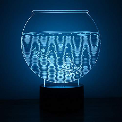 3D LED luz de la noche novedad visual usb lampara lámpara de ...