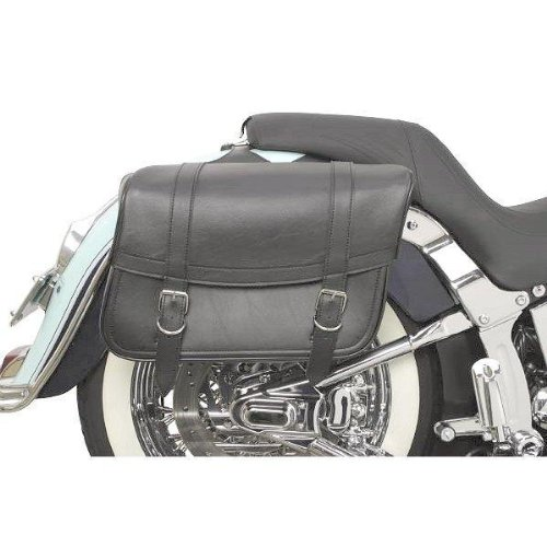 Saddlemen Highwayman Slant-Style Classic Sports Saddlebag - Black / Large (Large Slant Saddlebags)