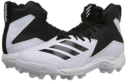 adidas Unisex Freak Mid MD Wide J Football Shoe, FTWR White, core Black, 4 M US Big Kid by adidas (Image #6)