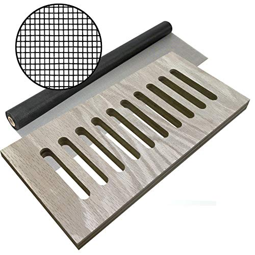 Toe Kick Vent Cover - Plywood Vent with Fiberglass Screen in Back Face, 3