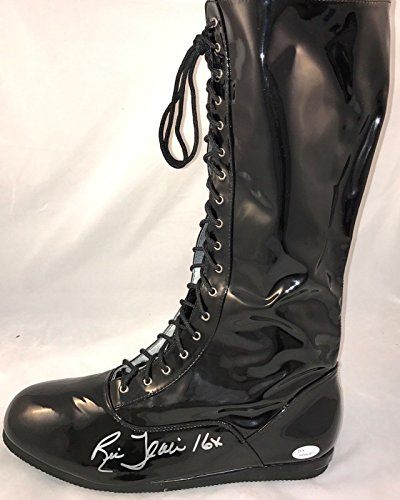 Ric Flair WWE WCW Signed Autographed Wrestling Boot JSA Authenticated Black (L) ()