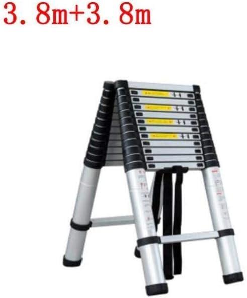 YSDHE 5M telescópica Escalera de Aluminio Multiusos Portable escaleras de extensión Plegable for al Aire Libre y Cubierta Constructor Proyector DIY fácil 150 kg Carry / 330lbs MAX.Carga: Amazon.es: Hogar