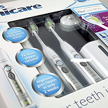 Philips Sonicare Flexcare Whitening Edition Rechargeable Toothbrush 2-pack Bundle (2 Flexcare Handles + 2 Diamondclean Brush Heads + Uv Sanitize + Charger + 2 Travel Caps+ 2 Travel Cases) 10