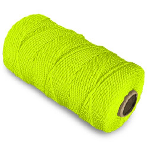 CWC Twisted Mason Twine - #18 x 1100', Neon yellow (Pack of 12 cones)