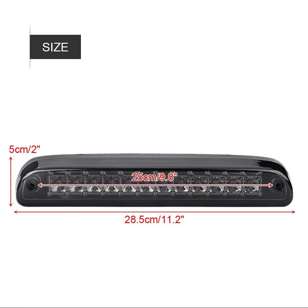1 PC of High Mount 3 Bremsleuchte Rot//Wei/ße LED f/ür Ford F-250 F-350 F-450 99-16 Chrome /& Smoke. Outbit Third Brake Light