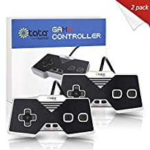 2 Pack kiwitatá USB NES Controller Classic Nintendo PC Controllers USB Famicom Gampad Joypad for Windows Mac/PC/Raspberry Pi(2017 Newest Version)
