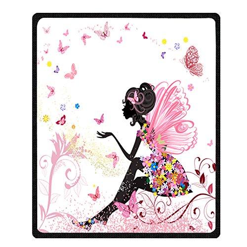 Custom Flower Fairy Pattern Bed/Sofa Soft Throw Blanket 58x80