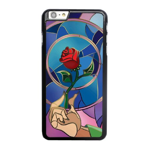 Coque,Coque iphone 6 6S 4.7 pouce Case Coque, Beauty And The Beast Enchanted Rose Cover For Coque iphone 6 6S 4.7 pouce Cell Phone Case Cover Noir