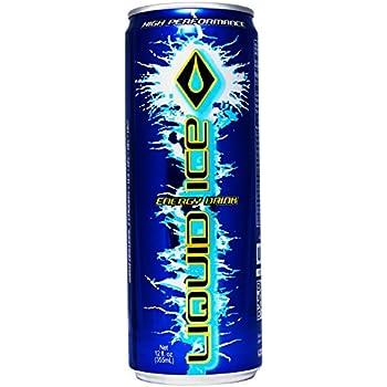 Amazon Com Liquid Ice Blue Energy Drink 12 Ounce 24