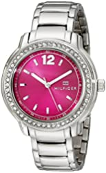 Tommy Hilfiger Women's 1781501 Crystal-Accented Stainless Steel Watch