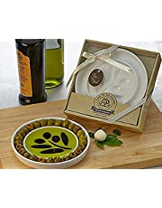 Artisano Designs Taste of The Orchard Oil-Vinegar Dipping and Appetizer Plate