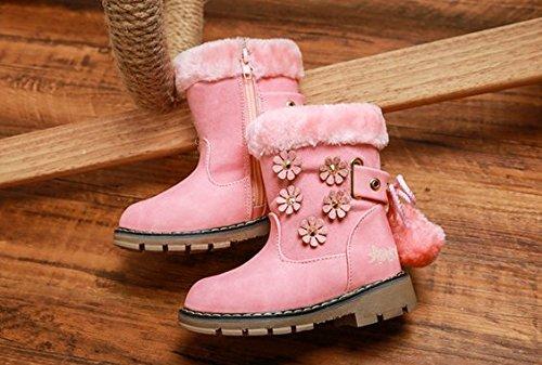 Ohmais Kinder Mädchen flach Freizeit Sandalen Sandaletten Kleinkinder Mädchen Kinderschuhe Stiefeletten Pink