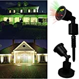 Valentine's Light,DRILLPRO Waterproof Red & Green Laser Light - Outdoor Star Projector Landscape Projector, Holiday Landscape Light for Patio,Lawn, Holiday Decoration(Romantic and Sweet Atmosphere) ()