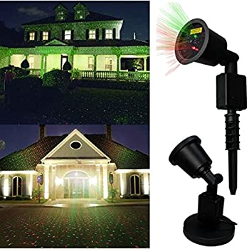 Valentine's Light,DRILLPRO Waterproof Red & Green Laser Light - Outdoor Star Projector Landscape Projector, Holiday Landscape Light for Patio,Lawn, Holiday Decoration(Romantic and Sweet Atmosphere)