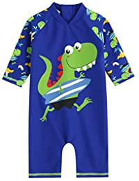 Vaenait Baby 0-24M Baby Boys Swimsuit Rashguard Swimwear Surfing Dino
