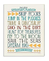 The Kids Room by Stupell Typography Art Wall Plaque, The Little Gentleman\'s Playbook